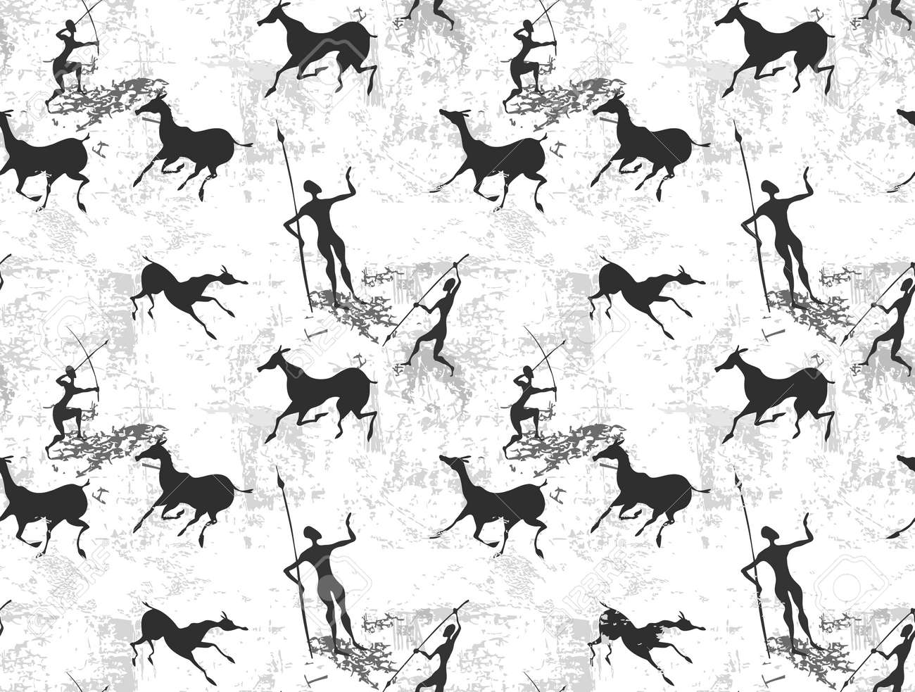 Cave painting seamless background texture - 18120304