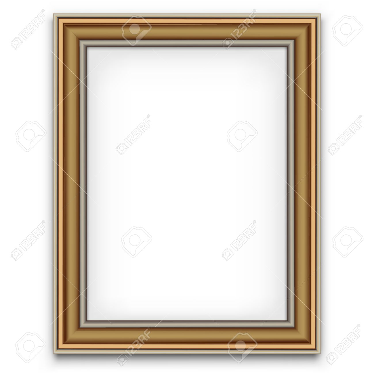 Blank Picture Frame Vector Decoration Element. Photo Template ...