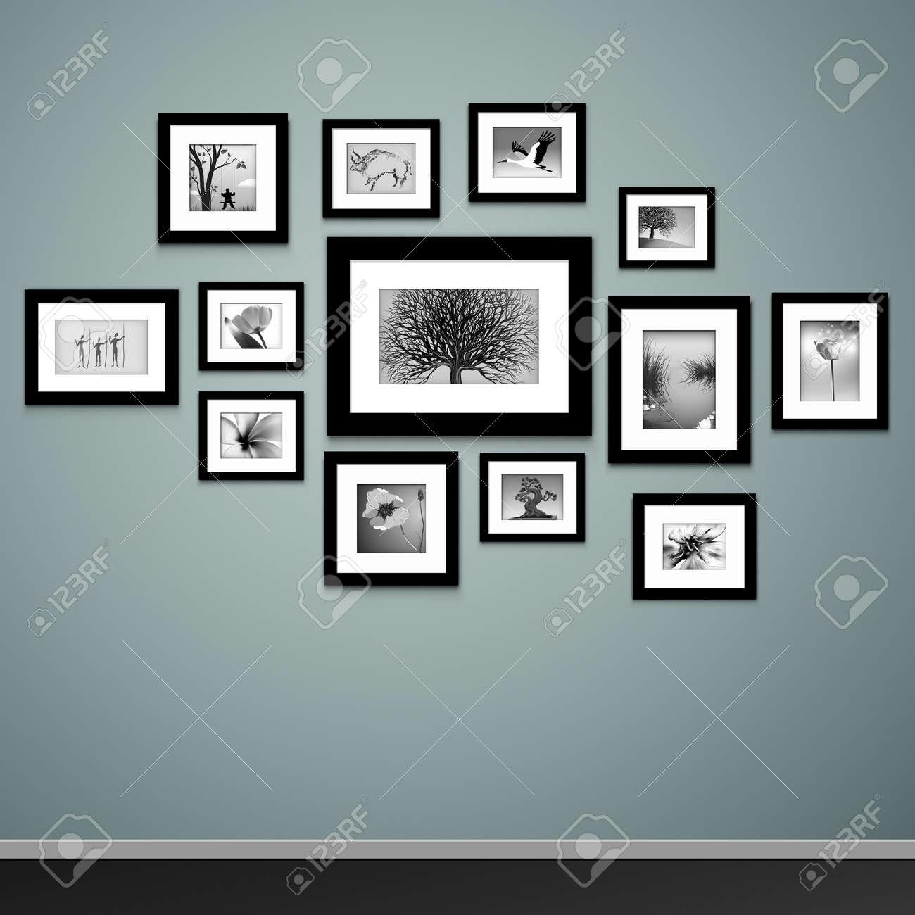 Fantástico Marcos En La Pared Imágenes - Ideas de Arte Enmarcado ...