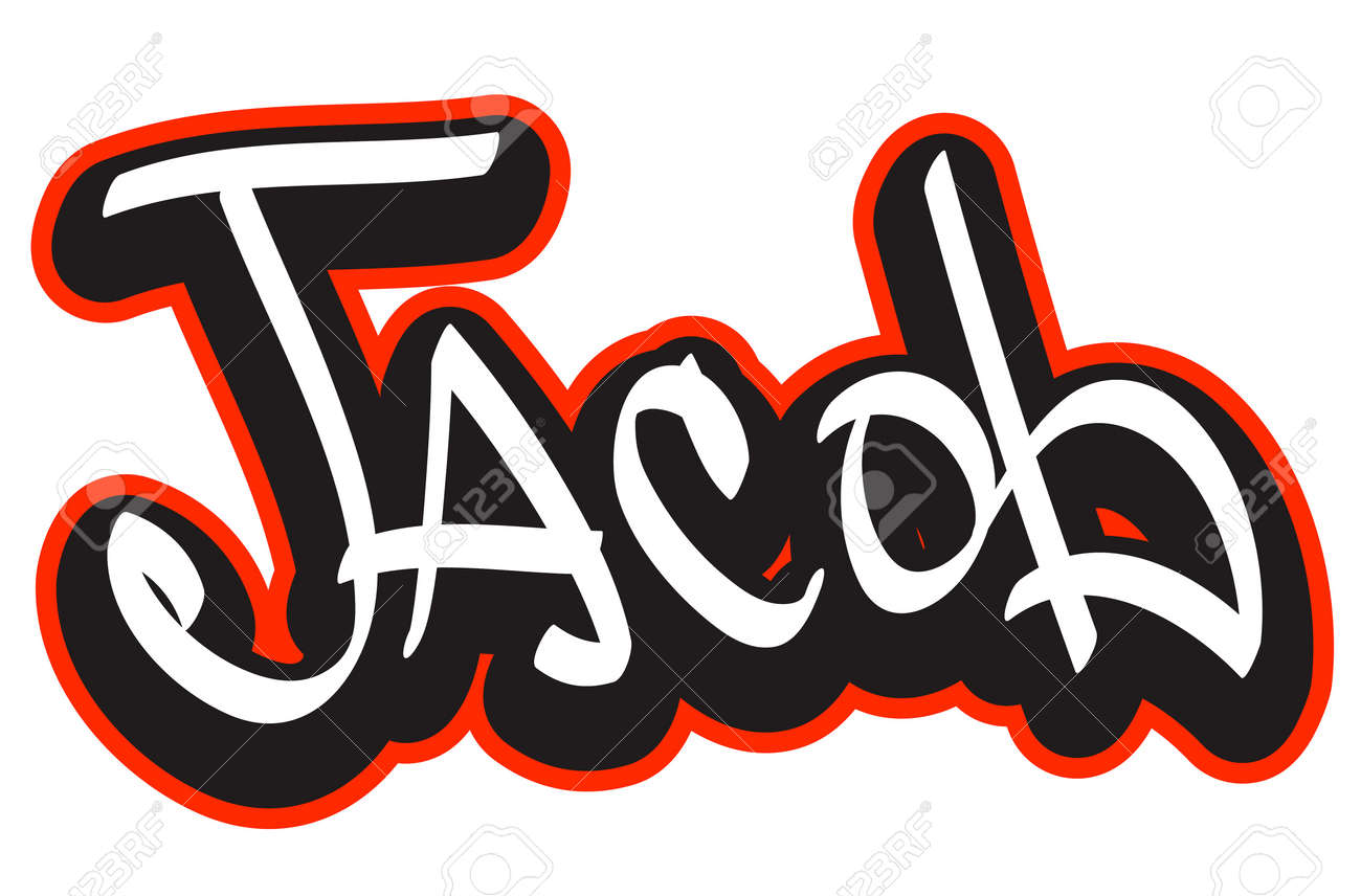 Graffiti font style name  Hip-hop design template for t-shirt, sticker or badge Stock Vector - 19873491