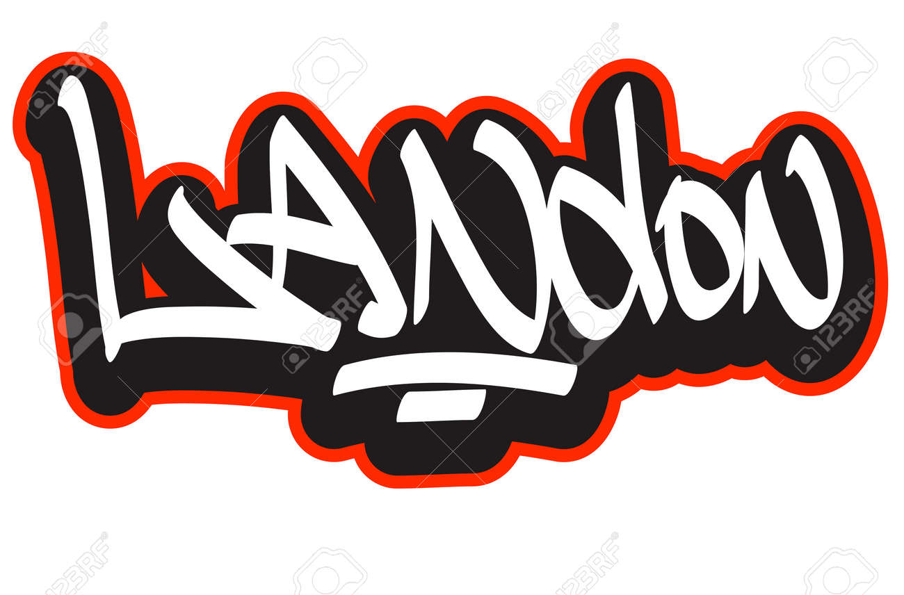 Graffiti font style name hip hop design template for t shirt sticker or