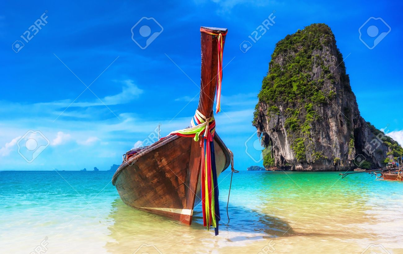 Tropical island landscape background  Thailand beach Stock Photo - 21232100