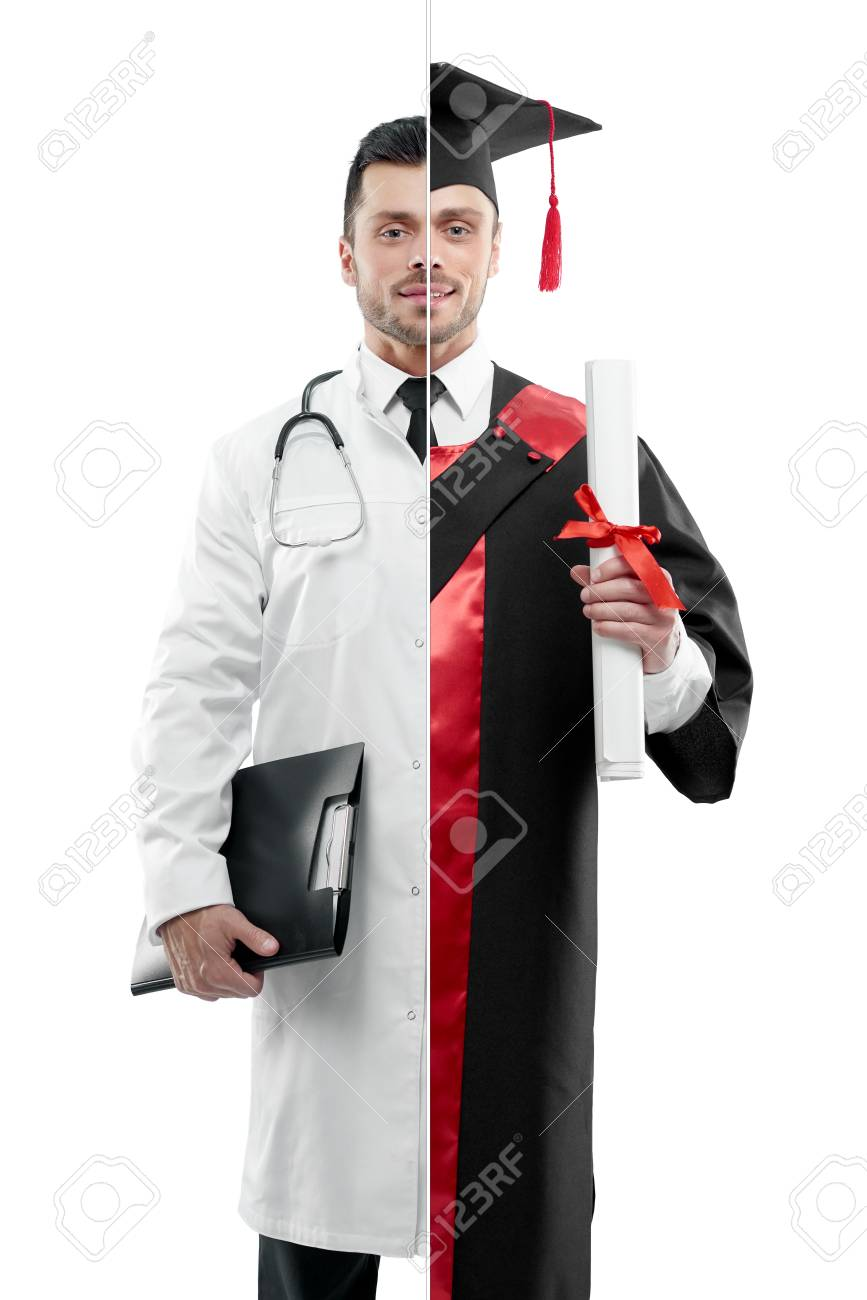 Comparison Of Doctor And University Graduates Outlook. Doctor ...