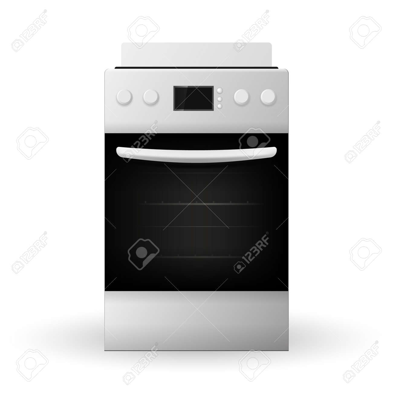 Modern gas stoves Fire New Modern Gas Stove Isolated On White Background 3d Vector Illustration Stock Vector Dreamstimecom New Modern Gas Stove Isolated On White Background 3d Vector