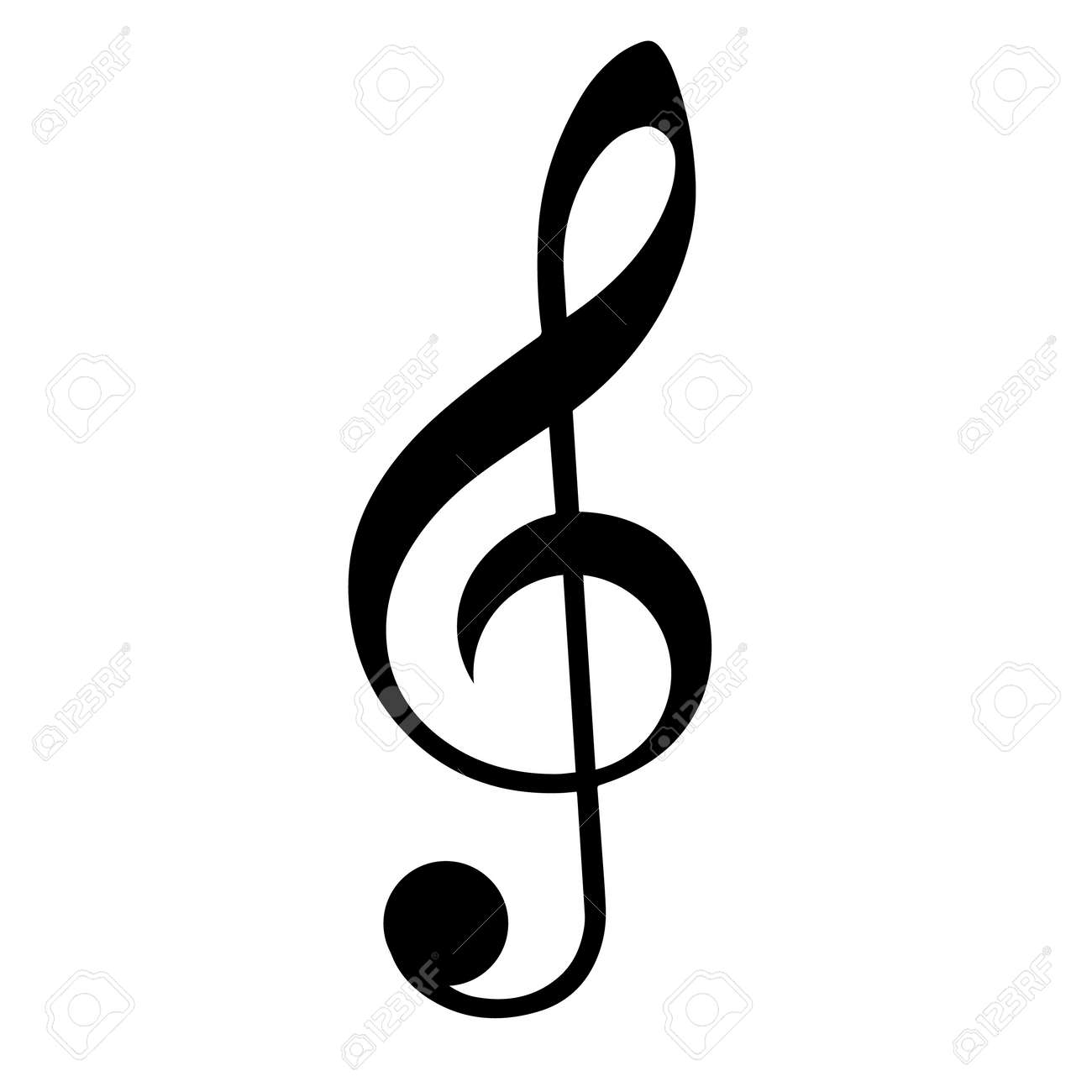 music clef isolated on white background. Vector illustration. - 76542098