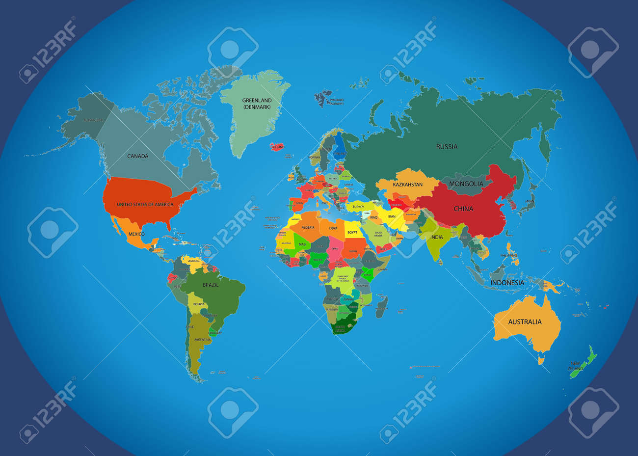 World map with country names isolated on background vector vector world map with country names isolated on background vector illustration eps 10 gumiabroncs Image collections
