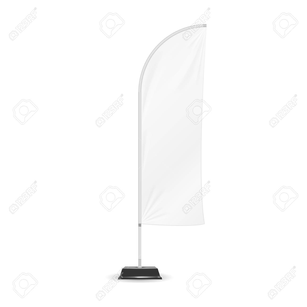 Advertising Banner Shield Mock Up, Template. White Outdoor Panel ...
