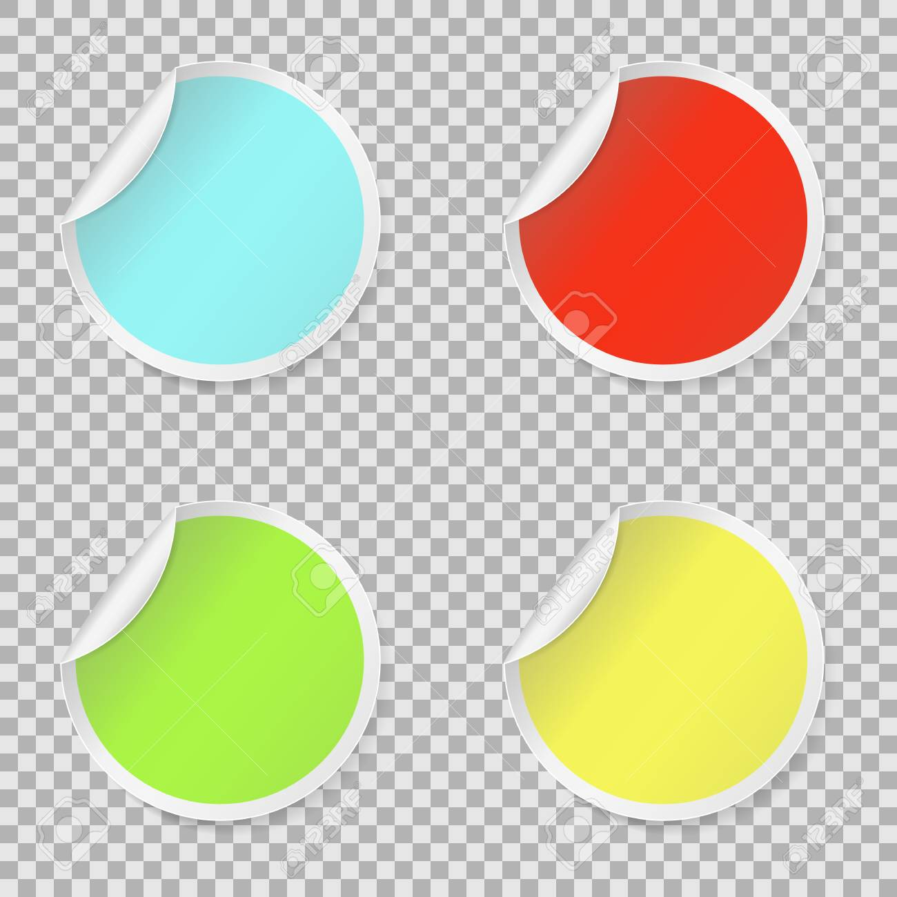 image regarding Printable Round Stickers called Sticker fixed, coloured blank spherical stickers choice. Spherical peel..