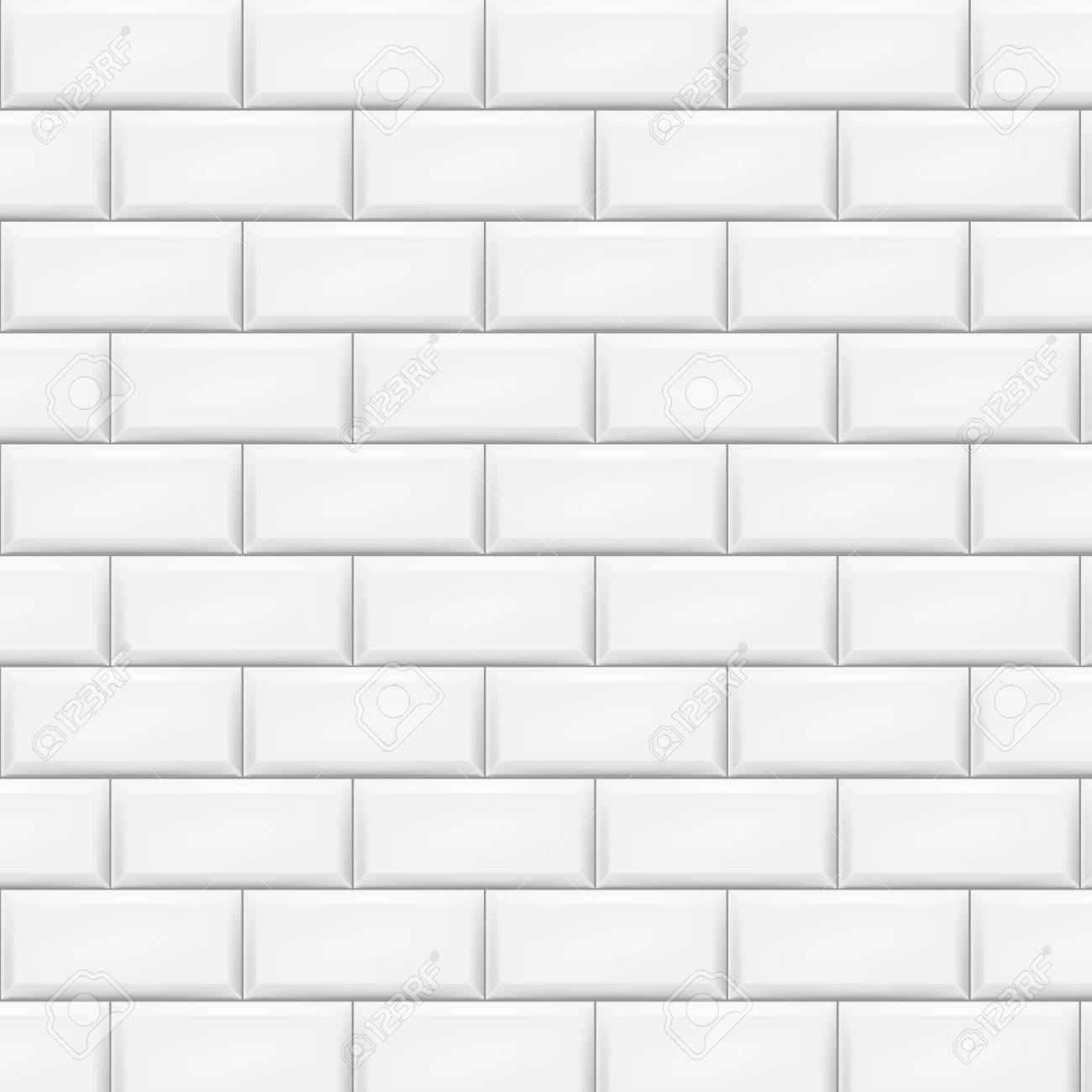Horizontal white tiles background. Vector illustration. Eps 10. - 81477263