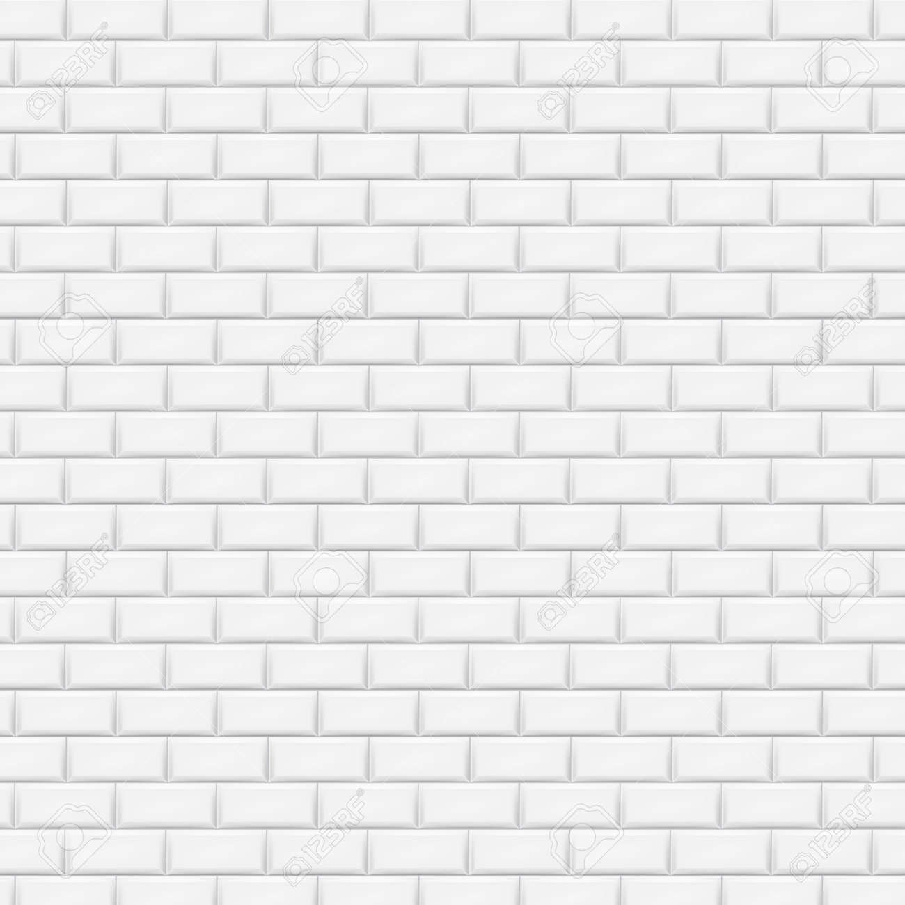 White brick wall in subway tile pattern vector illustration white brick wall in subway tile pattern vector illustration eps 10 stock vector dailygadgetfo Gallery