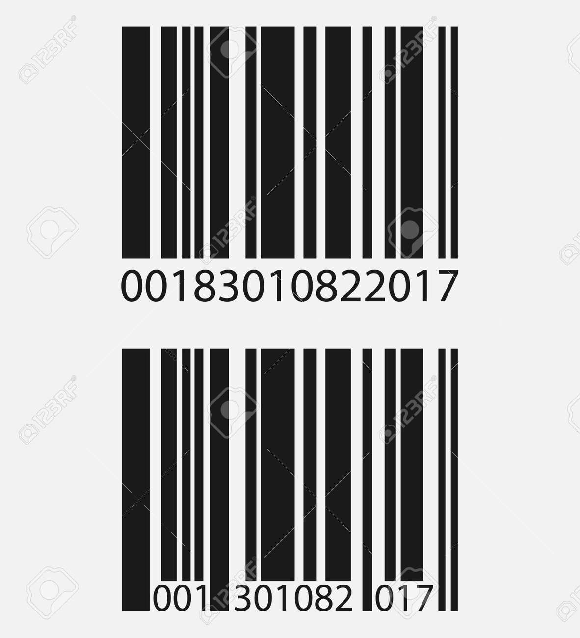 realistic barcode icon isolated on grey background vector