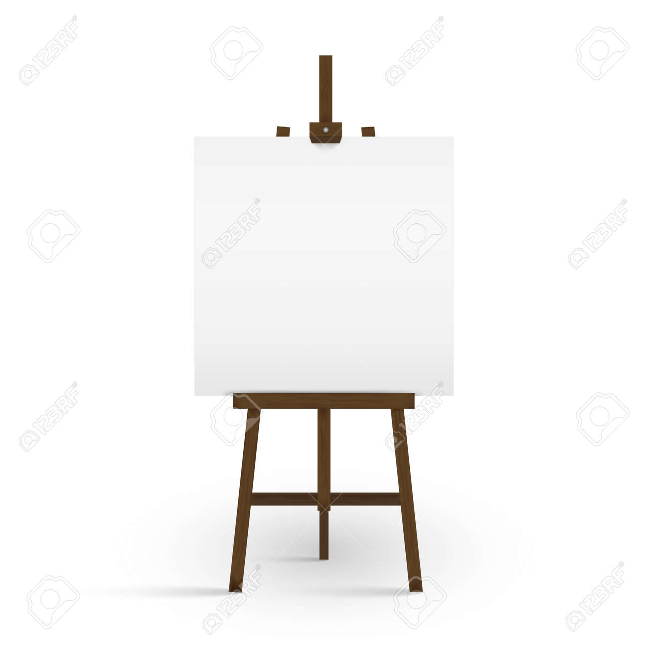 blank canvas on a artist easel blank art board and wooden easel rh 123rf com art easel clipart black and white art easel clipart