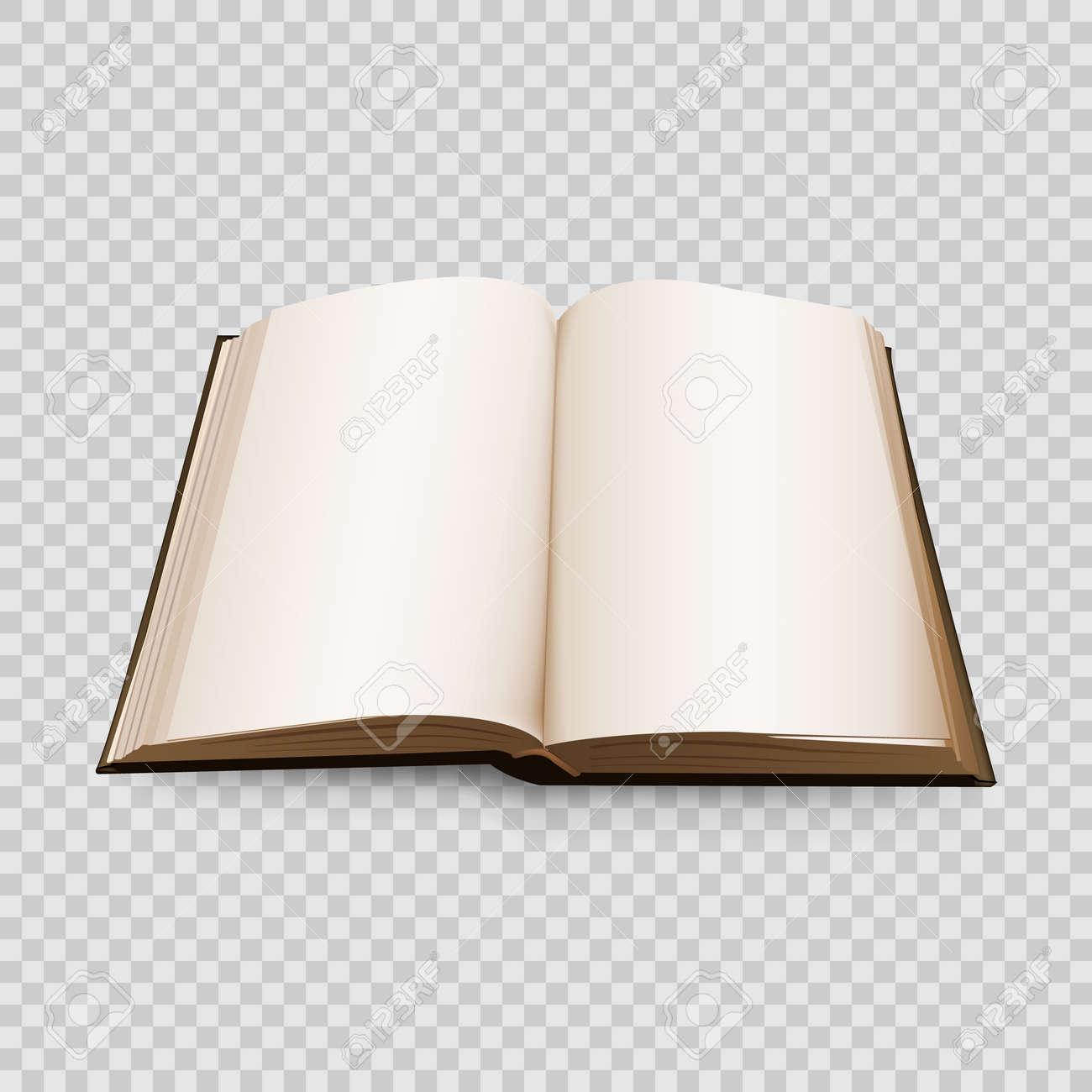 Livre Ouvert 3d Isole Sur Fond Transparent Illustration Vectorielle