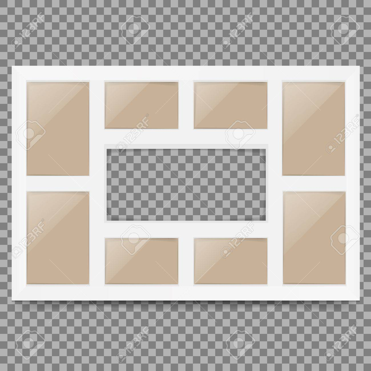 Multi Frame Set With Empty Space. Photo Frame. Photo Frame Collage ...