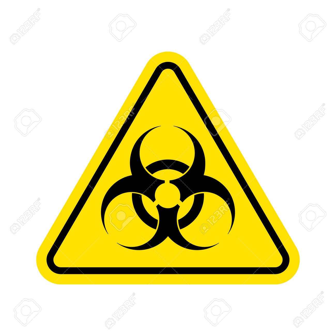 Warning sign of virus. Biohazard icon. Biohazard symbol. isolated on white background. Vector illustration. Eps 10. - 87339892