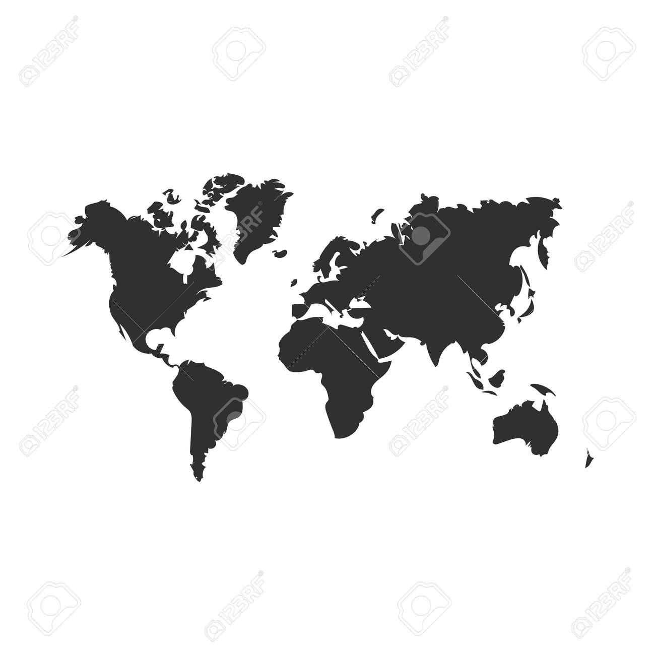 world map map icon. isolated on white background. Vector illustration. Eps 10 - 122628780