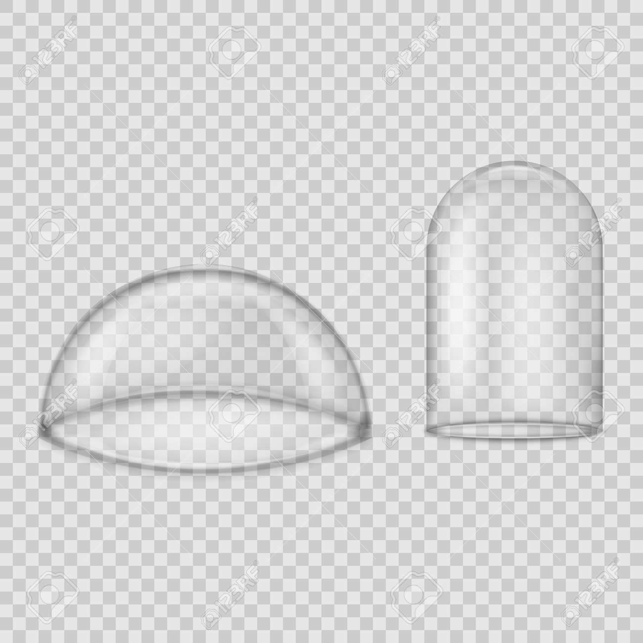 Glass dome isolated on transparent background. Vector illustration. Eps 10. - 146105483