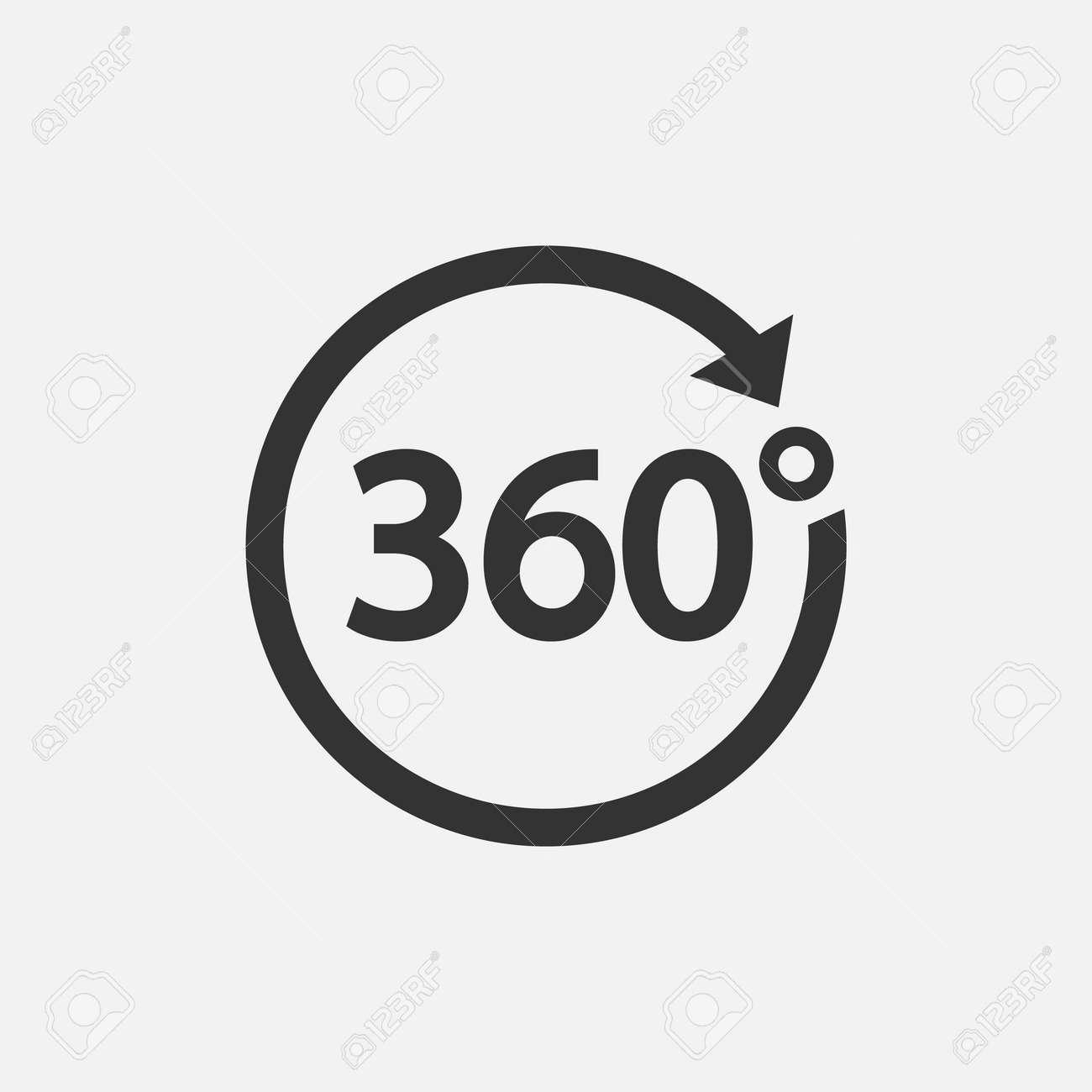 360 Icon. 360 degree view symbol Vector illustration. - 164871661