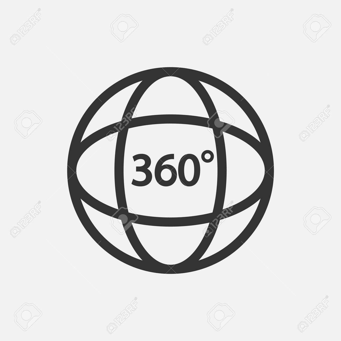360 Icon. 360 degree view symbol Vector illustration. - 164871670