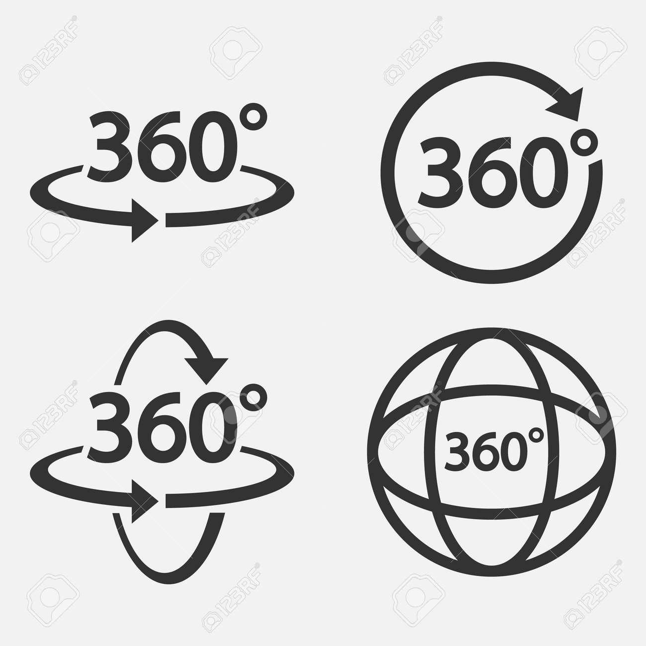 Set of 360 Icon. 360 degree view symbol Vector illustration. - 164871678