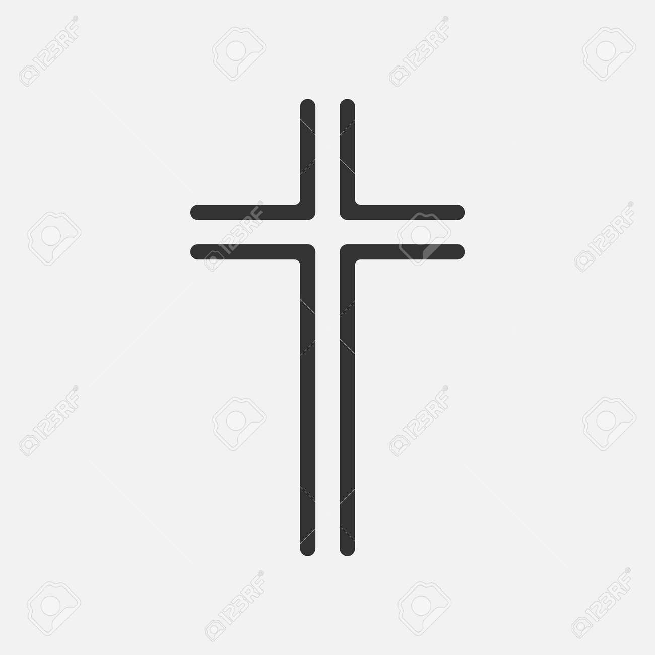Christian Cross icon app, UI. Vector illustration. - 164871862