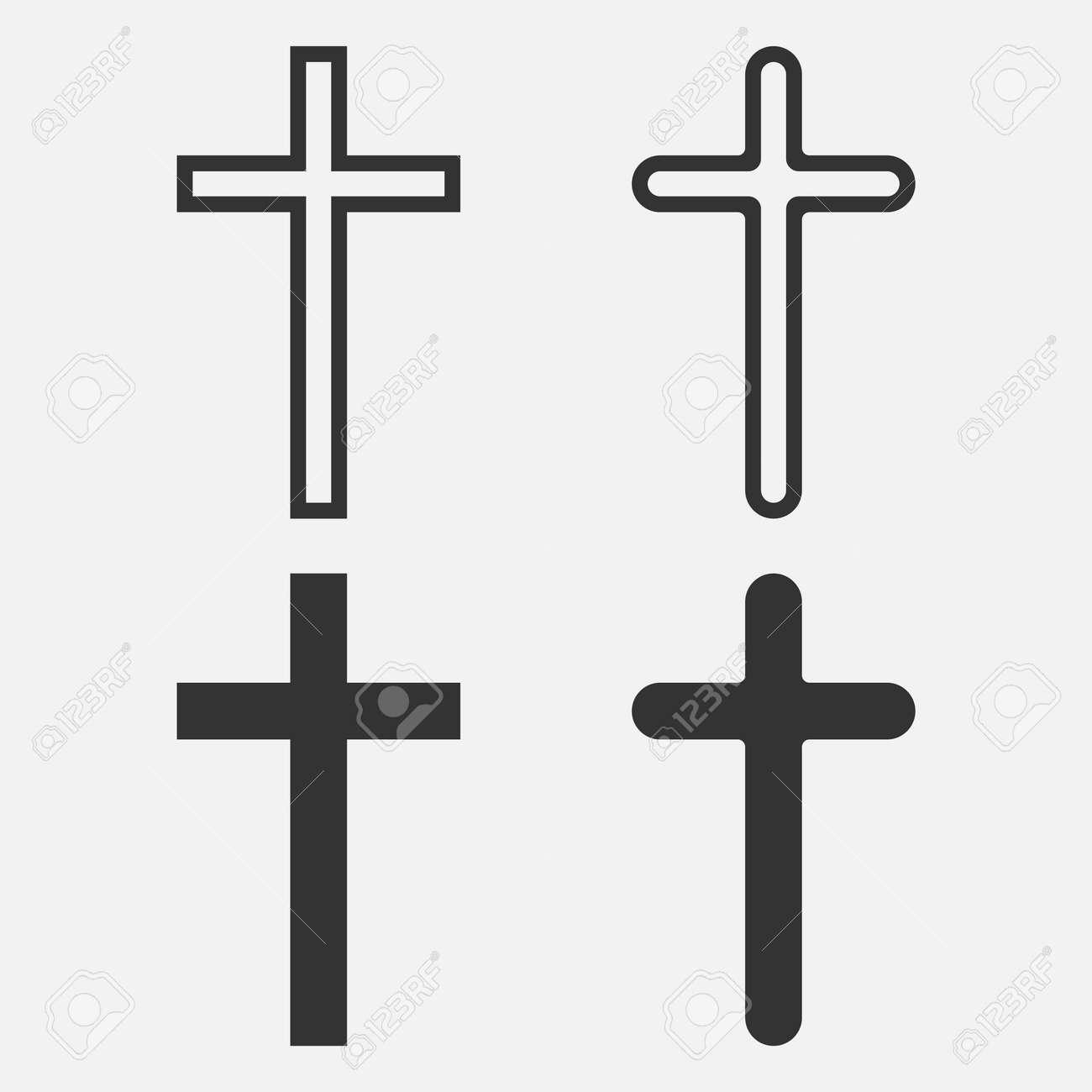 Christian Cross icon app, UI. Vector illustration. - 164871880