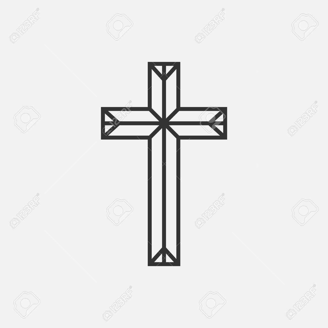 Christian Cross icon app, UI. Vector illustration. - 164871977