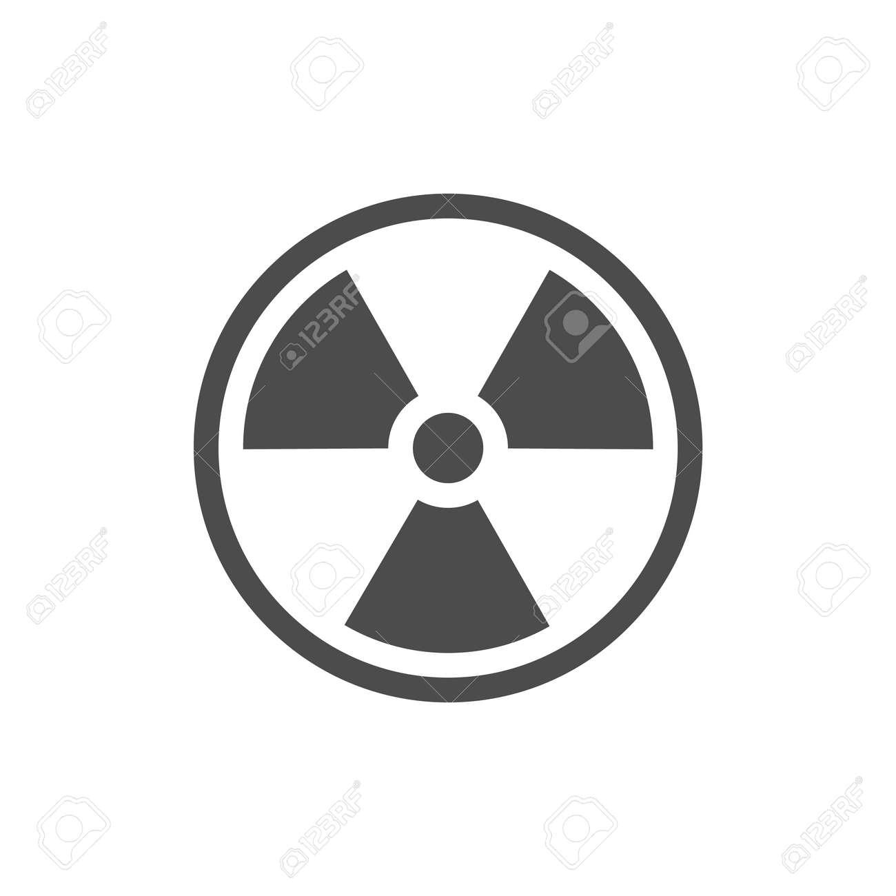 Radiation symbol. Radiation warning icon. - 166665815