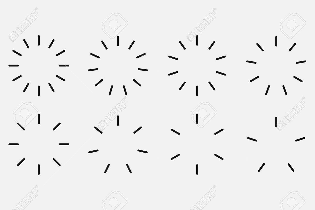 Starburst and sunburst radial effect set. Vector illustration. - 166668615