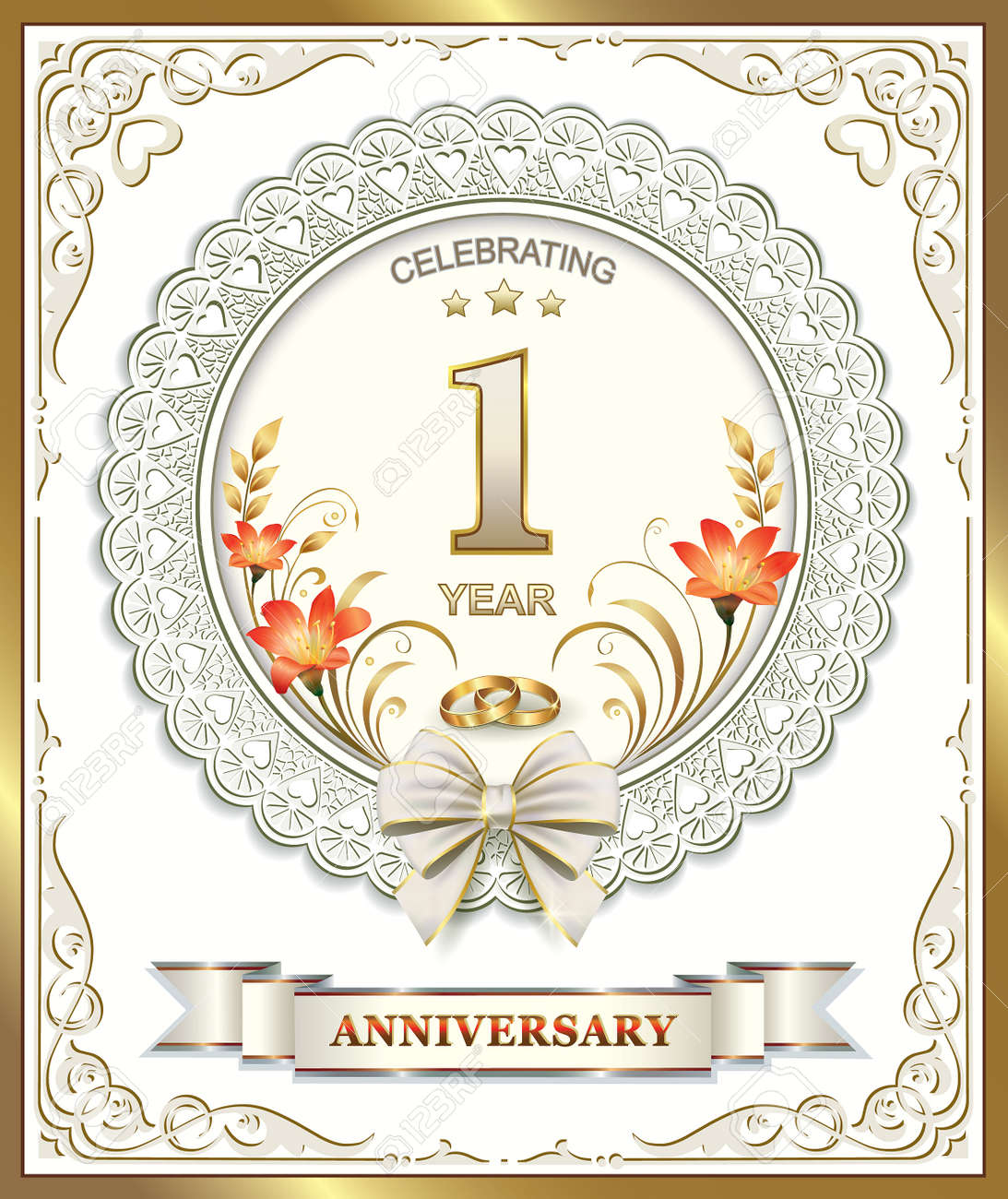Greeting card with wedding anniversary royalty free cliparts greeting card with wedding anniversary stock vector 39585859 m4hsunfo