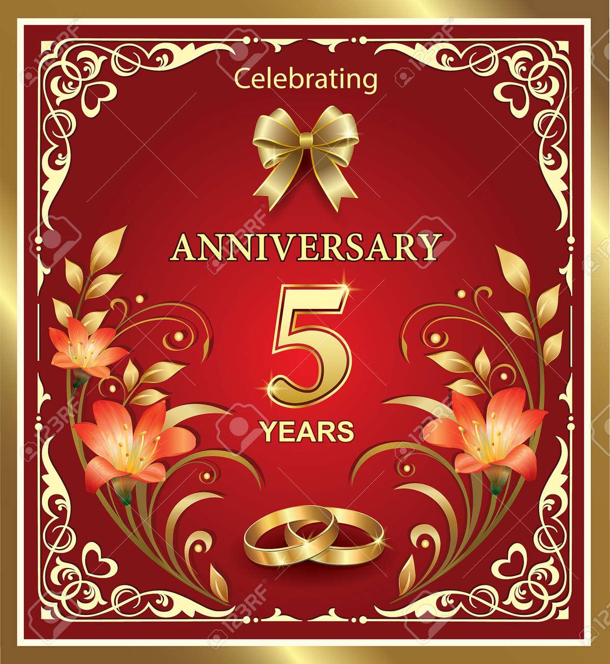 Emejing 5 yr wedding anniversary pictures styles ideas 2018 5 year wedding anniversary on a red background royalty free biocorpaavc Gallery