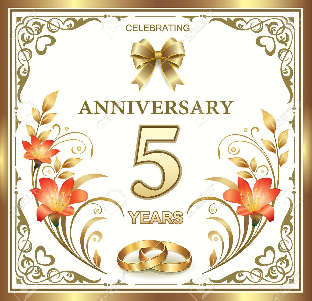 5 años de aniversario de boda Foto de archivo , 42642831