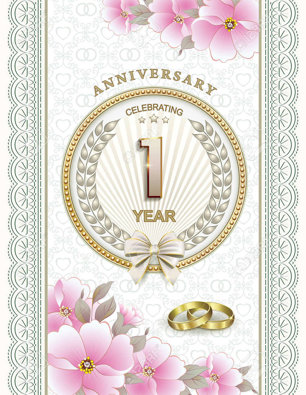 Beautiful Invitation Card For Wedding Anniversary Royalty Free ...