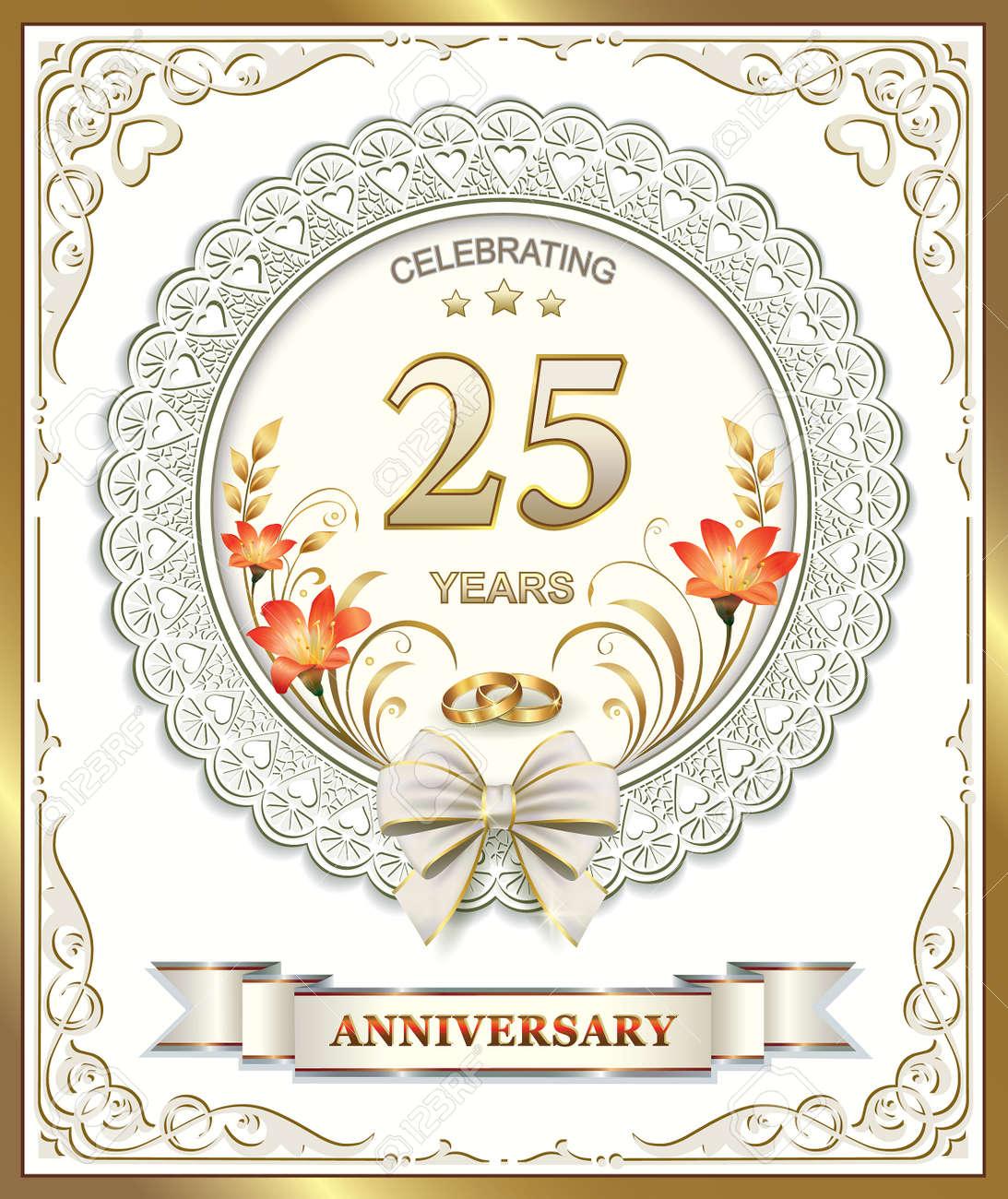 Xxv Anniversario Di Matrimonio.Vettoriale 25 Anniversario Di Matrimonio Image 44834867