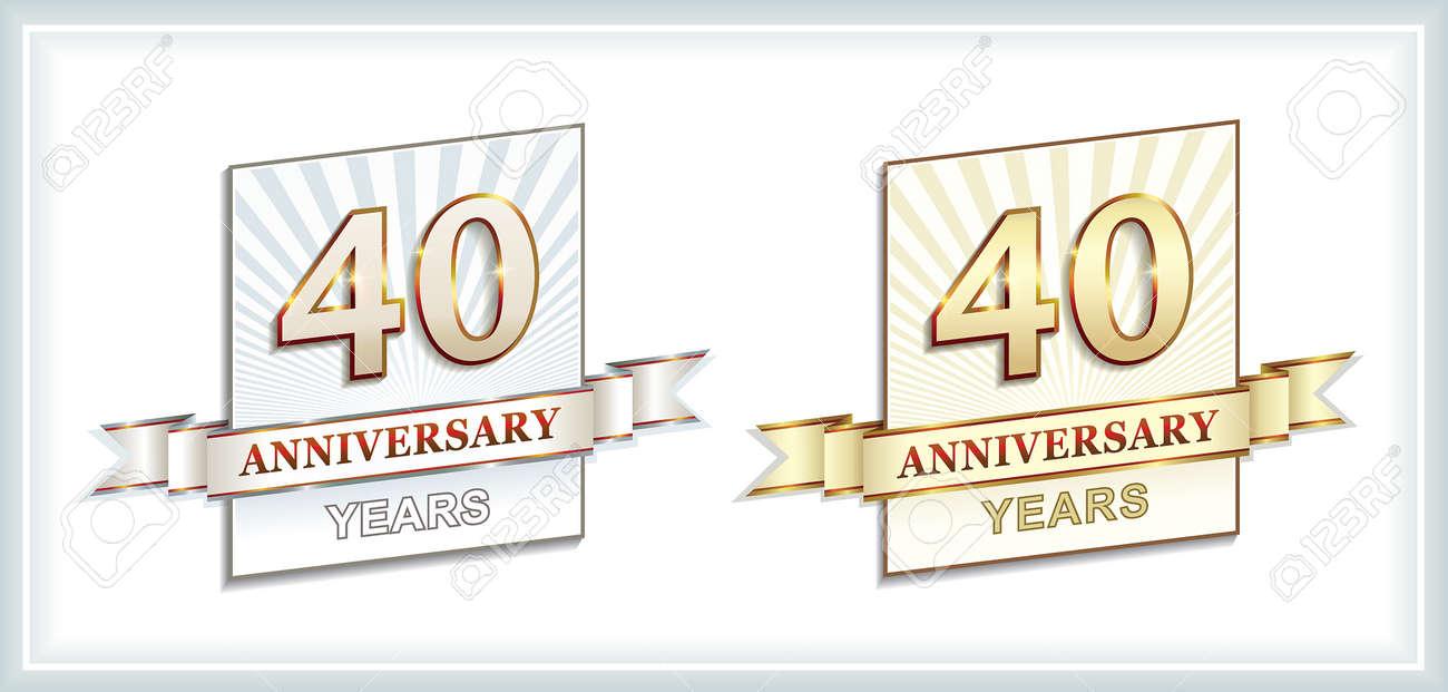 40 Jahre Jubilaum Lizenzfrei Nutzbare Vektorgrafiken Clip Arts