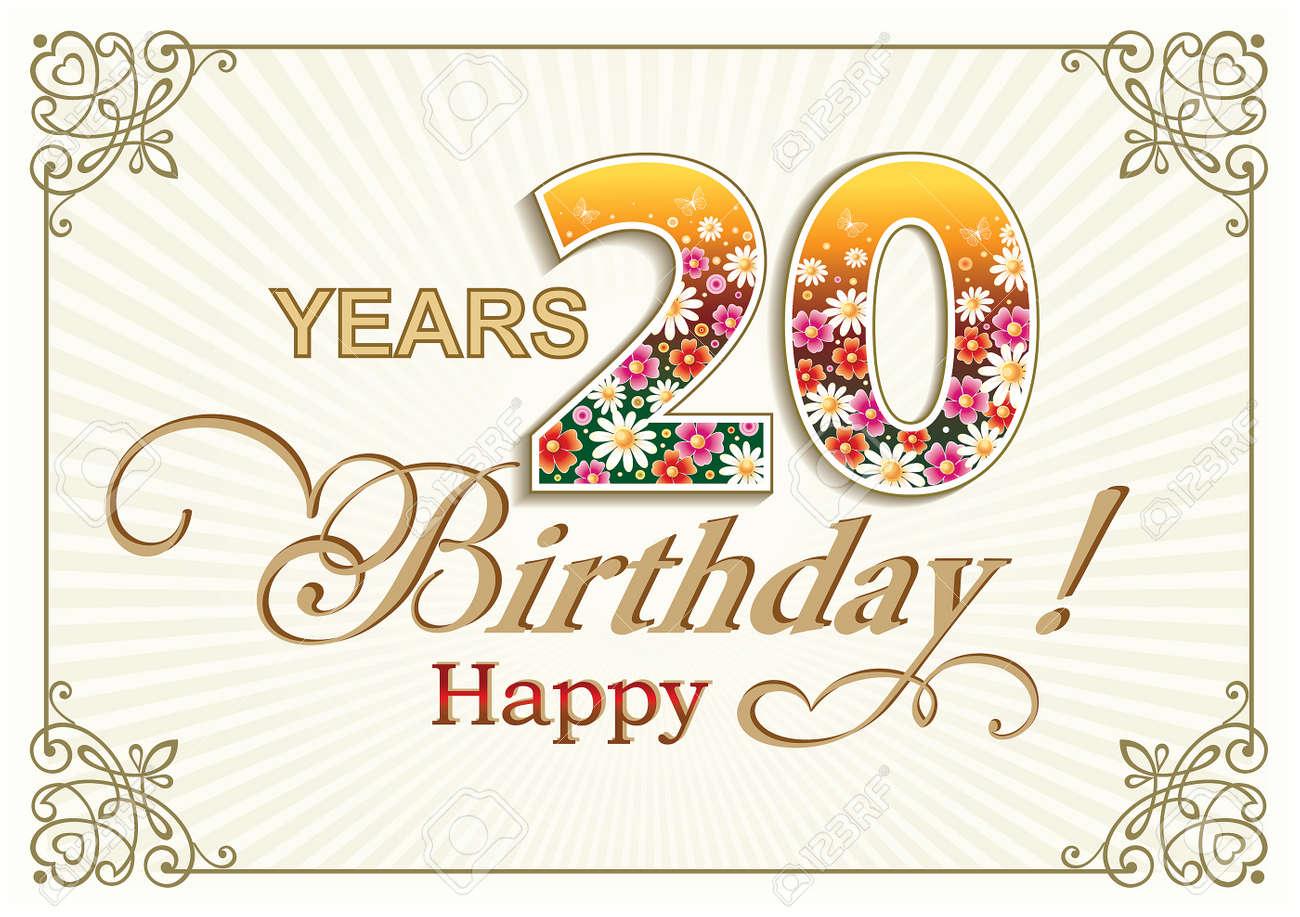 Buon 20 Anniversario Di Matrimonio.Buon Compleanno 20 Anniversario