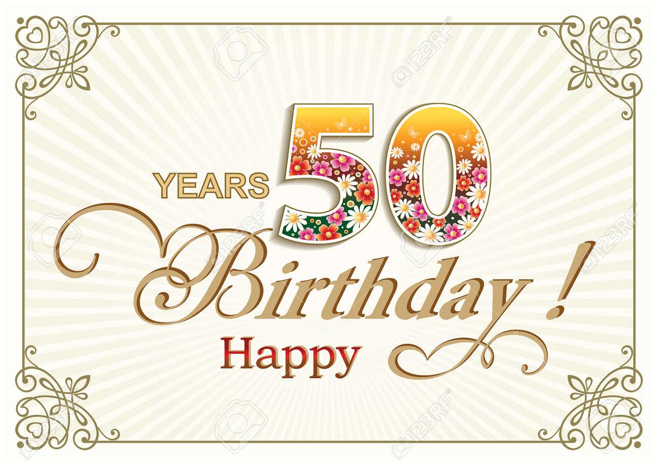 Happy Birthday 50 Years Stock Vector