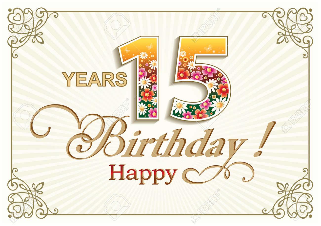 Tarjeta De Felicitación De Cumpleaños De 15 Años En El Contexto De ...