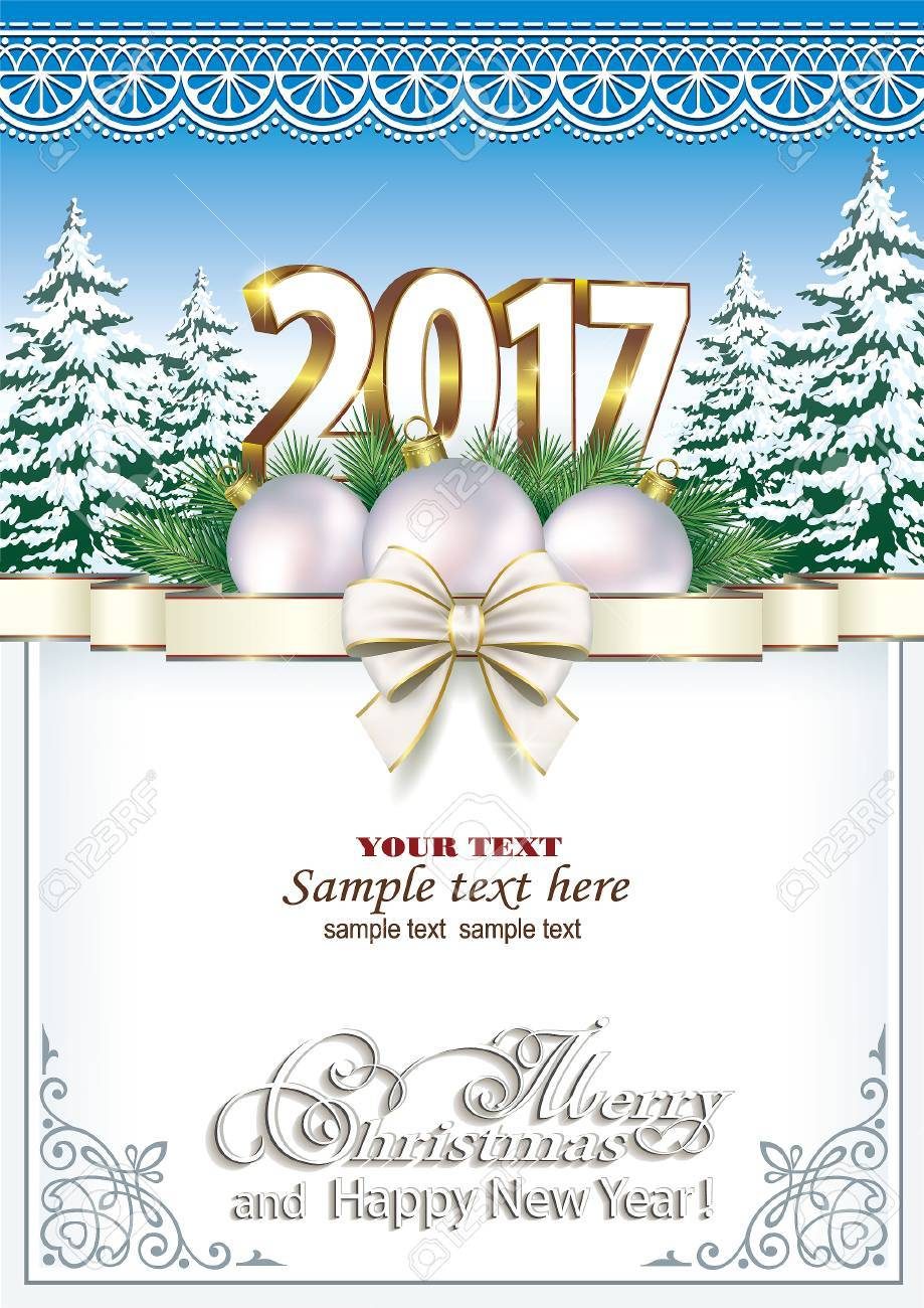 Merry Christmas and Happy New Year 2017 - 64269874