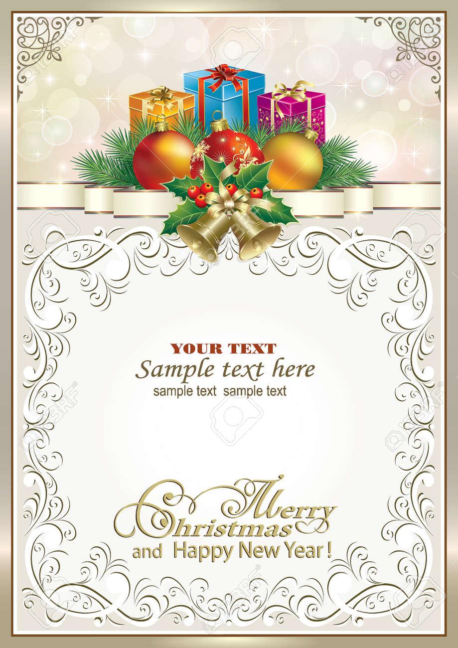 Vistoso Ornamento Del Marco De La Imagen De Navidad Cresta - Ideas ...