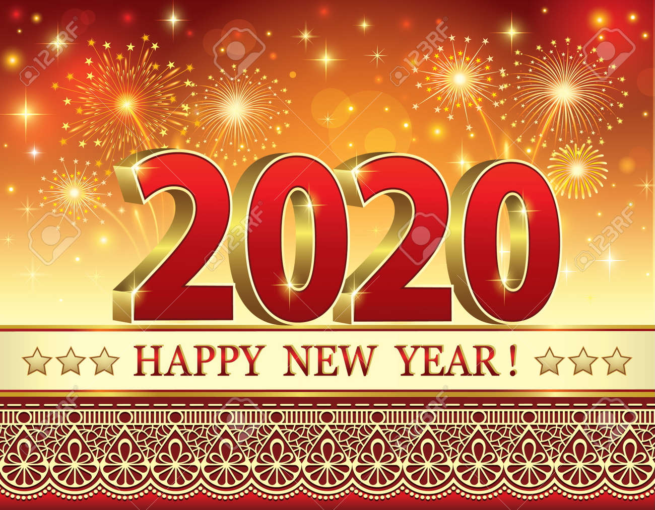 Christmas 2020.Happy New Year And Merry Christmas 2020 Vector Illustration
