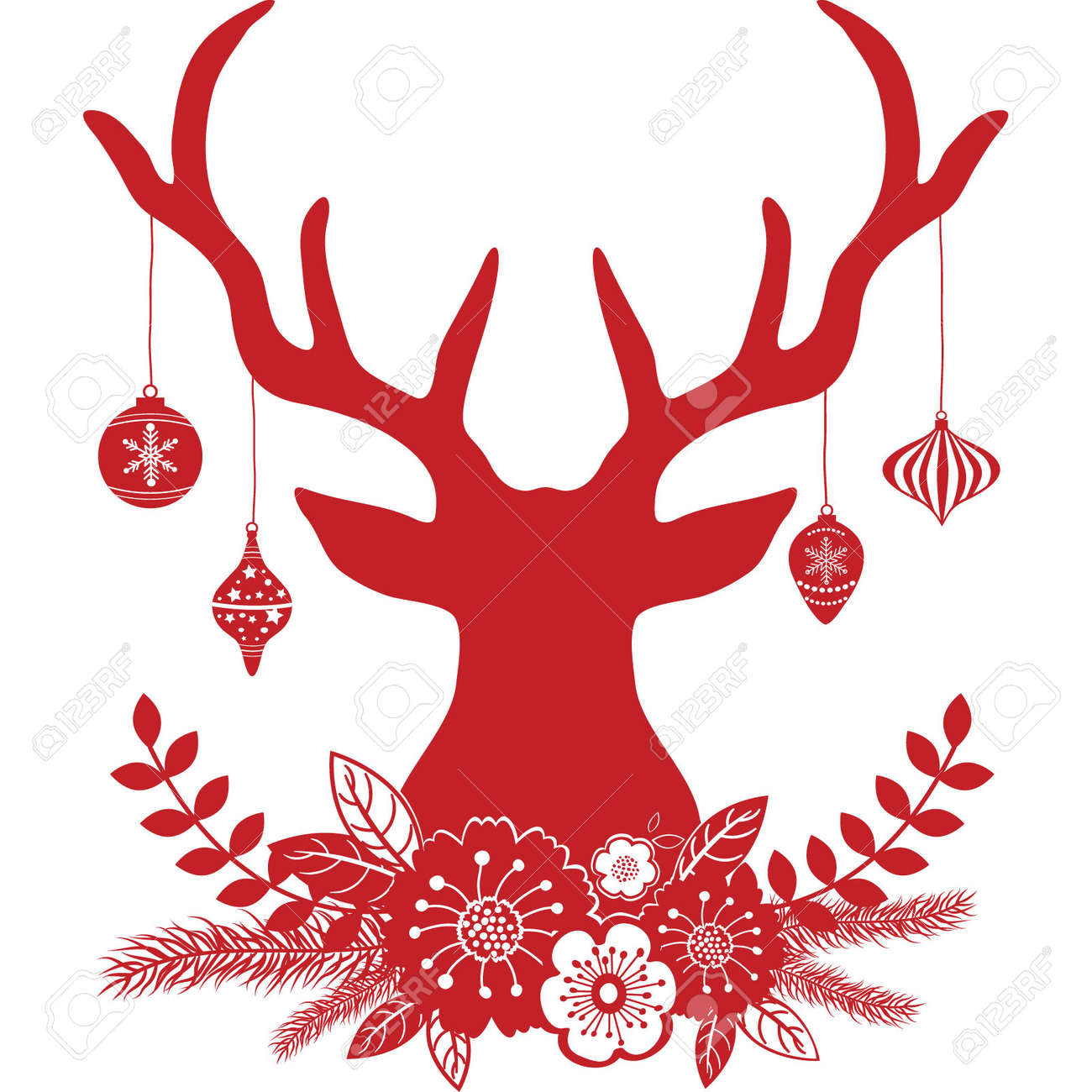 A Christmas Reindeer Clip Art, Merry And Holidays - Transparent Background Reindeer  Christmas Clipart, HD Png Download - kindpng
