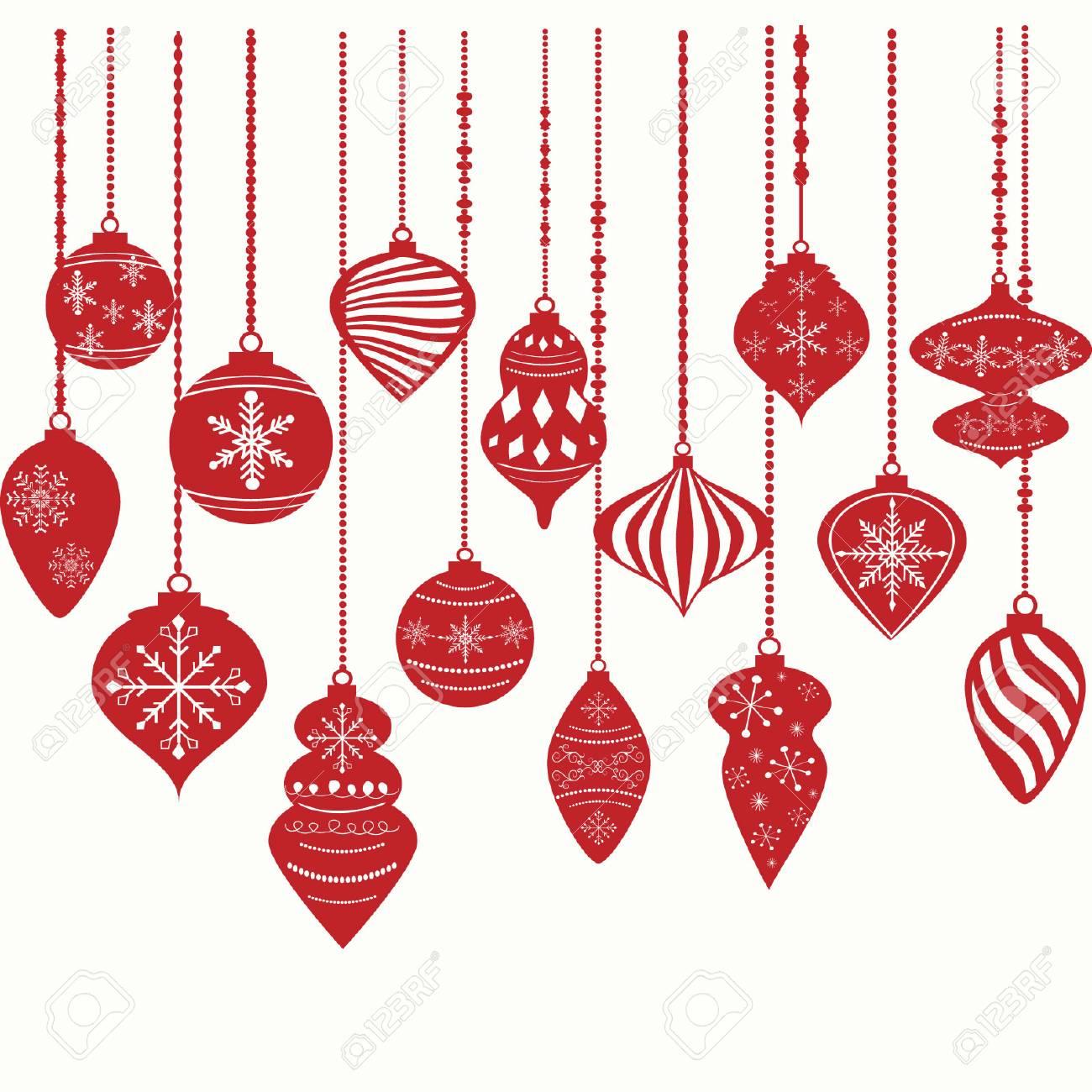 Christmas Ornament Vector.Christmas Ornaments Christmas Balls Decorations Christmas Hanging