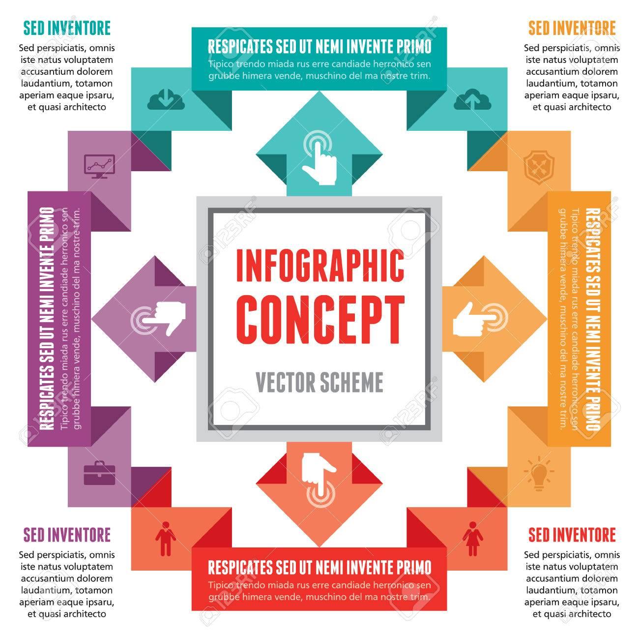 Concepto Infografía - Resumen Esquema Vector Ilustraciones ...