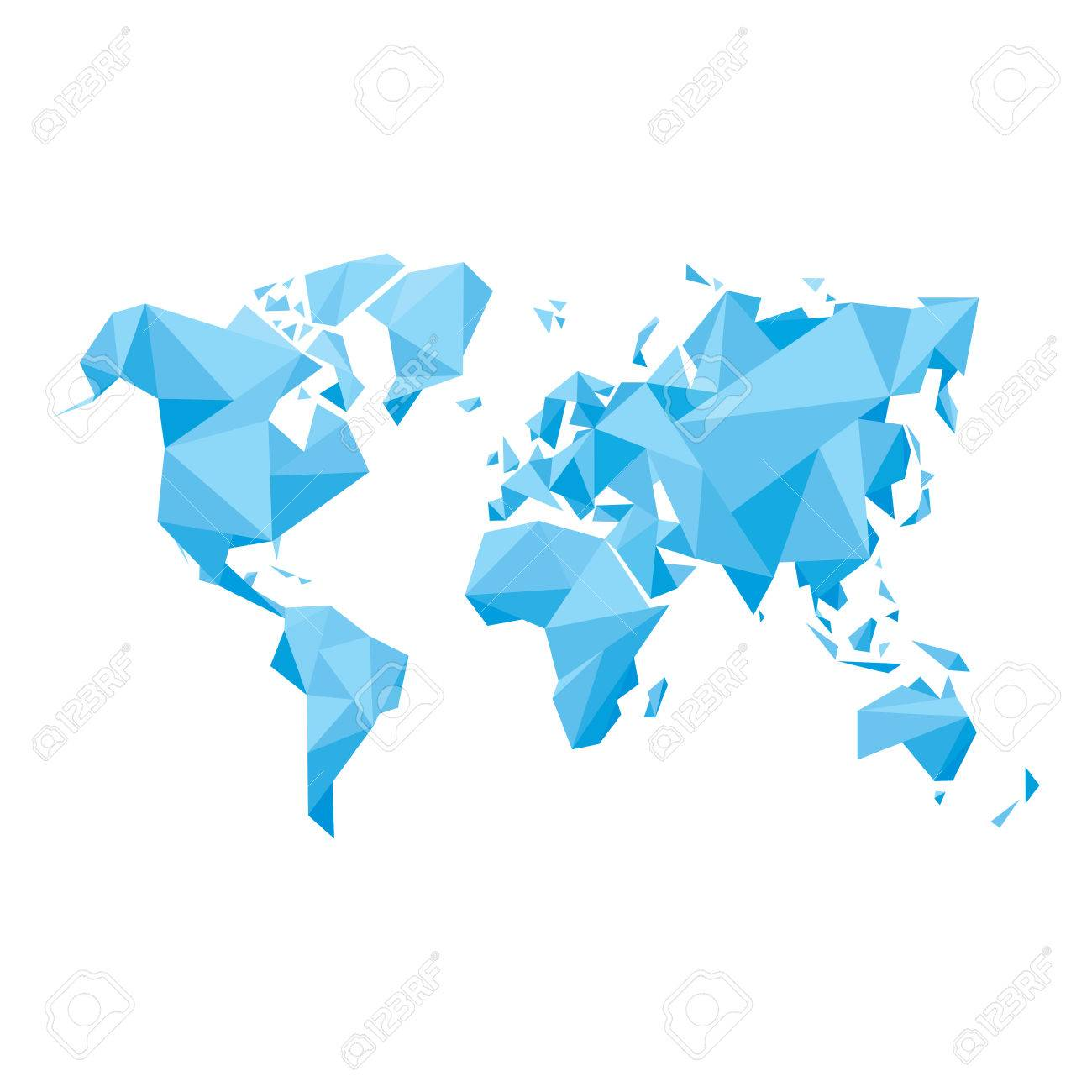 Abstract World Map Royalty Free Cliparts Vectors And Stock