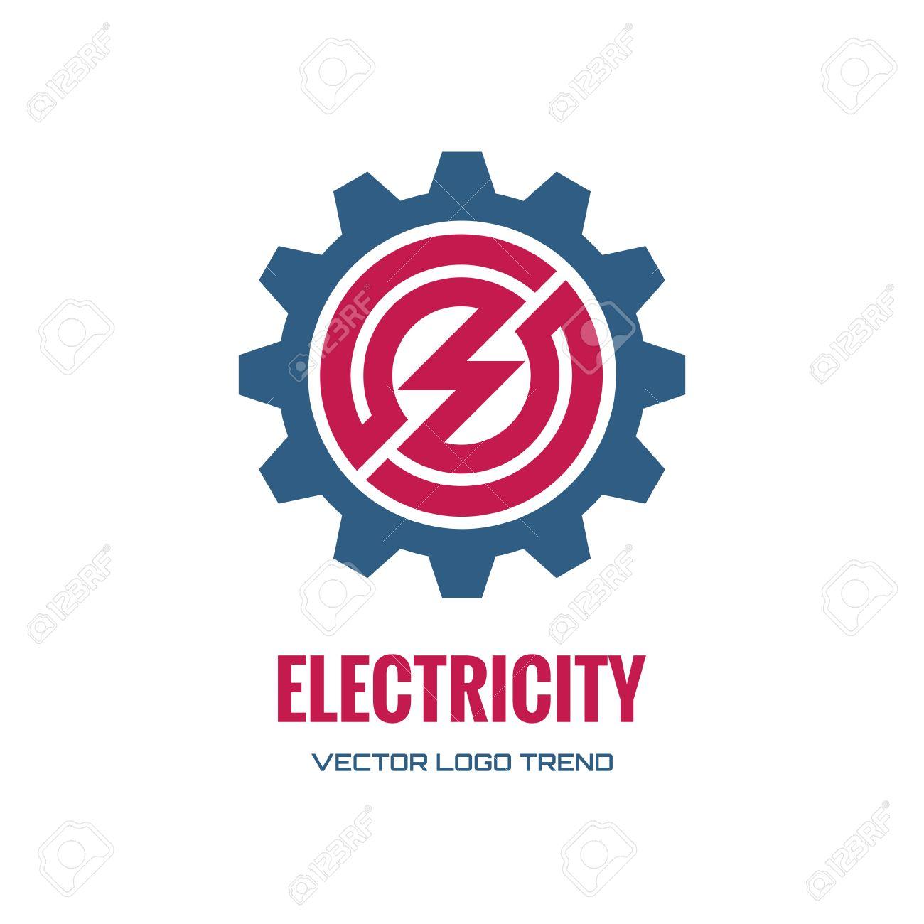 Elektrizität - Vektor-Konzept-Abbildung. Zahnrad-Symbol. Lizenzfrei ...
