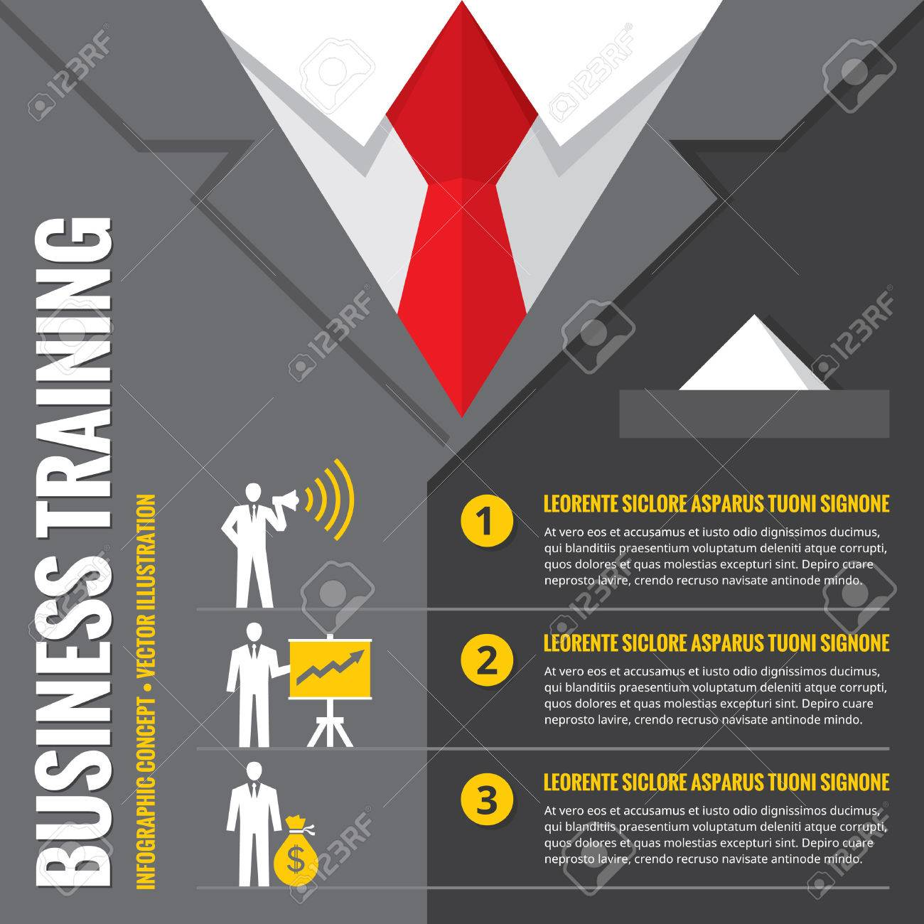 Business Training - Infographic Vector Illustration. Business ...