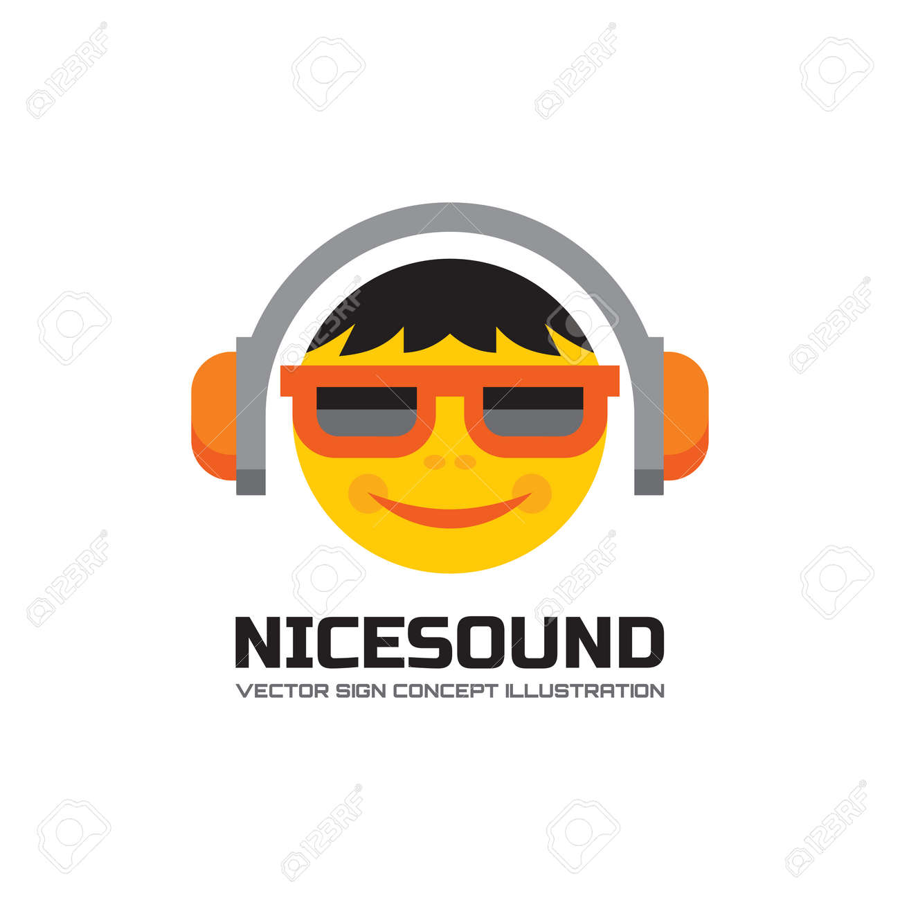 Nice sound - vector logo concept illustration in flat style design