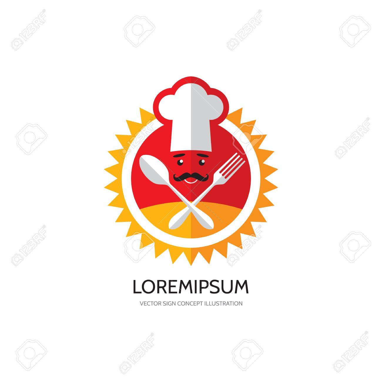 kitchen cafe restaurant food vector logo concept illustration chef hat - Kitchen Logo