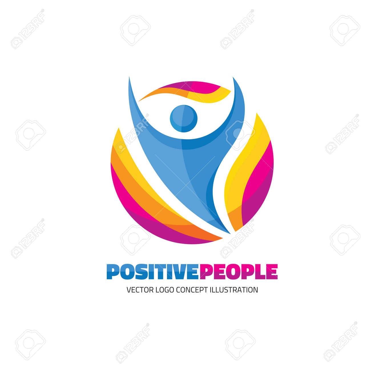 Positive Menschen - Kreative Logo Zeichen Für Den Sport-Club ...